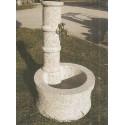 Fountains column with circular base