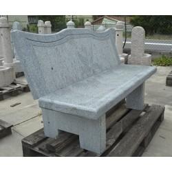 Panchina in granito con schienale