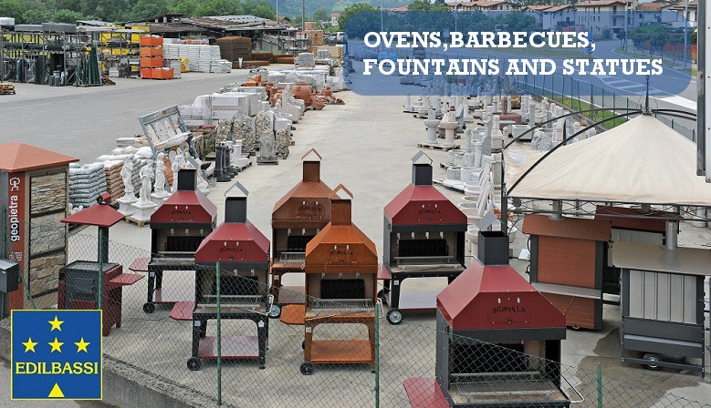 Ovens, Barbecues, Fountains and Statues